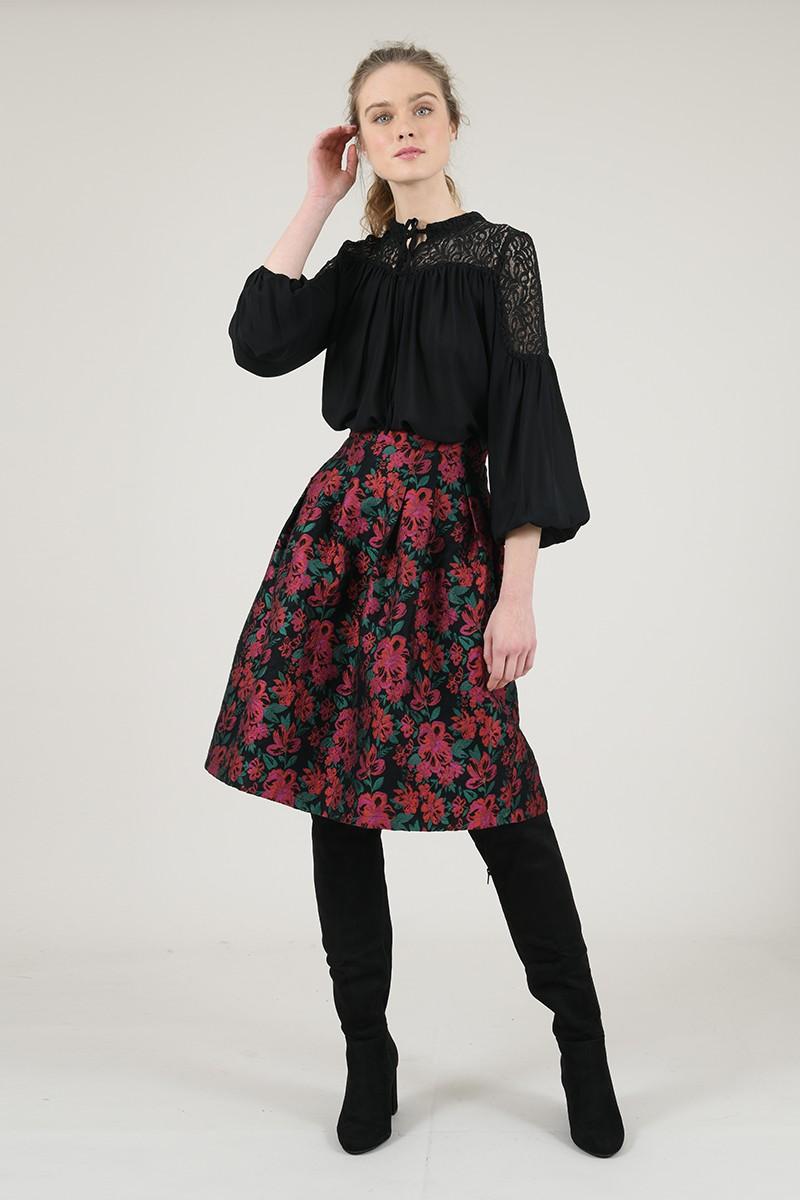 67068 lace yoke blouse
