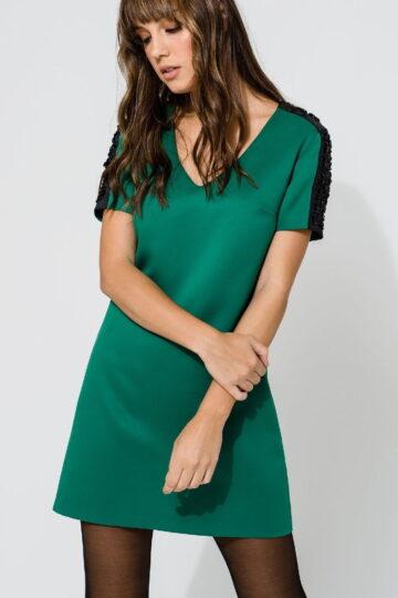 Φόρεμα κέντημα ώμους
