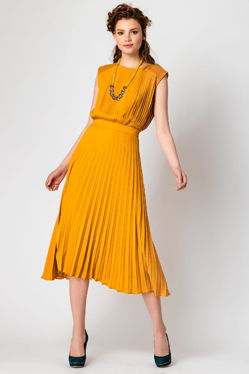 Φόρεμα μίντι plisse