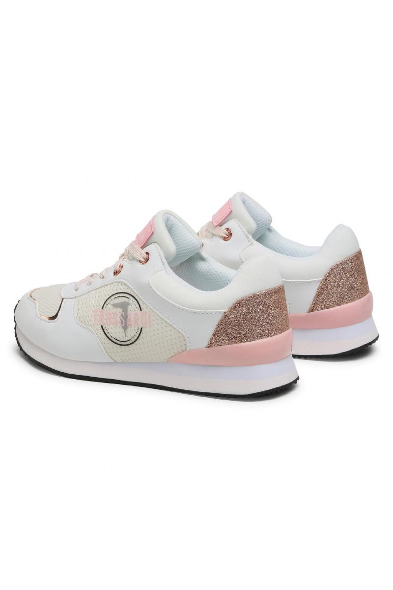 Sneaker running glitter mesh