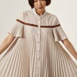 Φόρεμα σεμιζιέ με κουμπιά