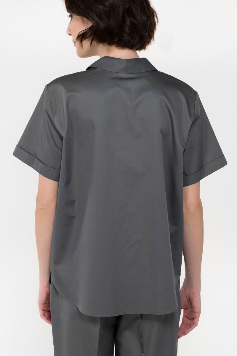 Shirt philosophy poplin short steeve shirt SH7116 gree