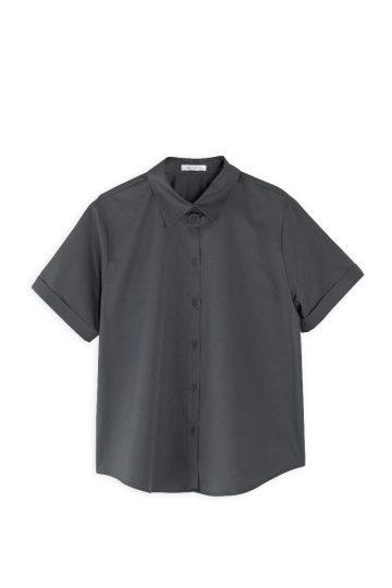 Πουκάμισο philosophy poplin short steeve shirt SH7116 Γκρι