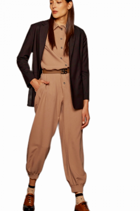 Bodysuit with buttons and belt – W1-5514