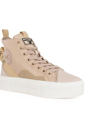 KENDALL AND KYLIE FEMALE SNEAKERS , ECO LEATHER-FABRIC ( TAMAR ),NUDE