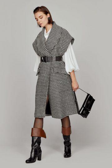 Παλτό γιλέκο tweed – W1-9027